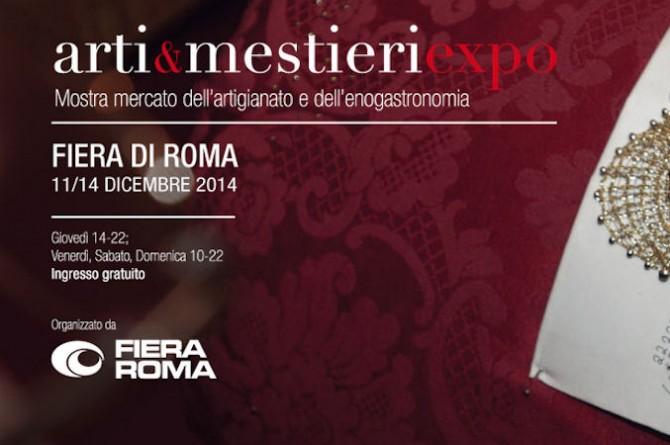 Arti & Mestieri Expo: dall'11 al 14 dicembre alla Fiera di Roma