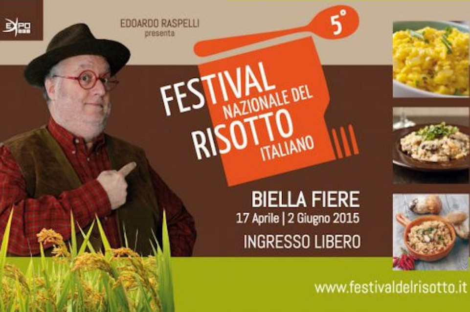"""Dal 17 aprile al 2 giugno a Biella torna il """"Festival Nazionale del Risotto"""""""