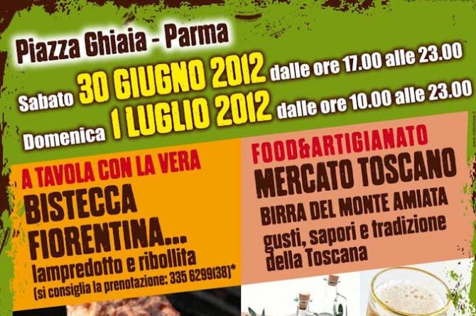 Bistecca fiorentina e mercato tipico toscano 2012