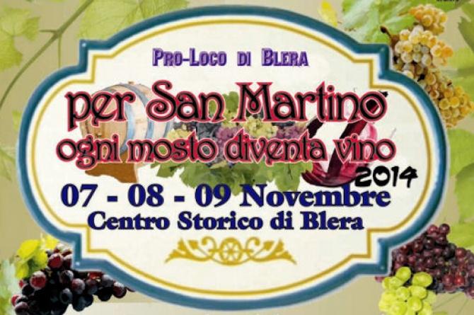 """Dal 7 al 9 novembre a Blera torna """"Per San Martino ogni mosto diventa vino"""""""