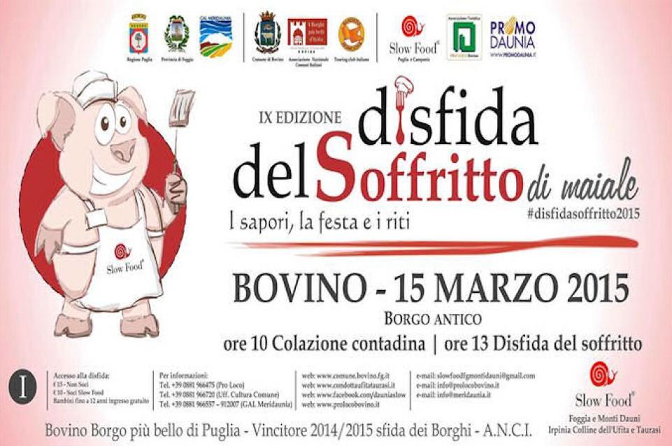 """Il 15 marzo a Bovino arriva la gustosa """"Disfida del Soffritto"""""""