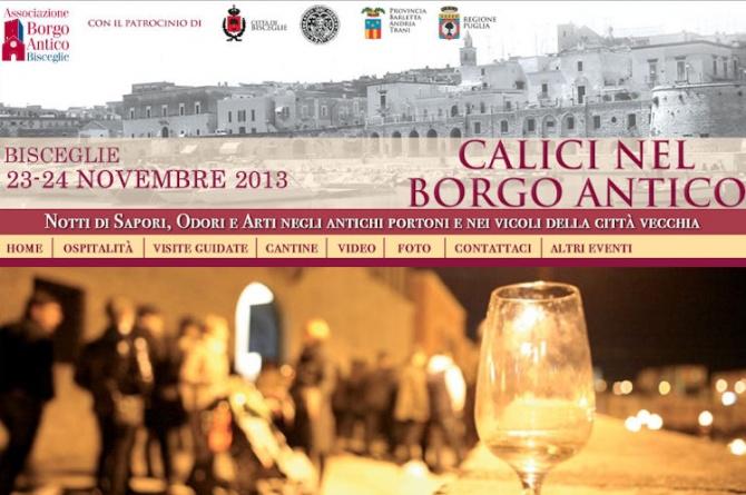 Calici nel Borgo Antico dal 23 al 24/11/2012 a Bisceglie (BA)