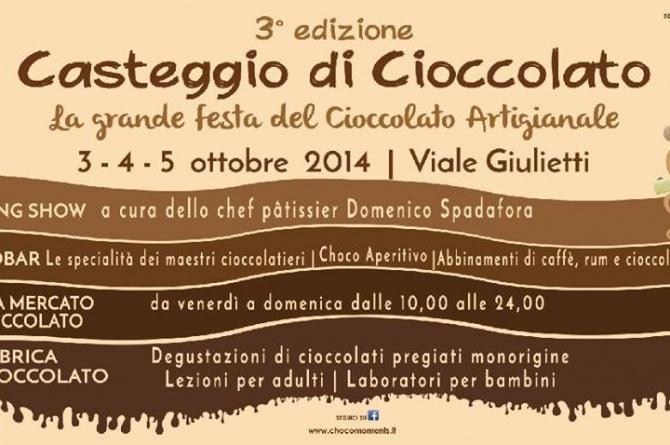 """Dal 3 al 5 ottobre """"Casteggio di Cioccolato"""", la festa del cioccolato artigianale"""