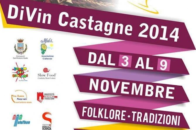 DiVin Castagne 2014: dal 3 al 9 novembre a Sant'Antonio Abate