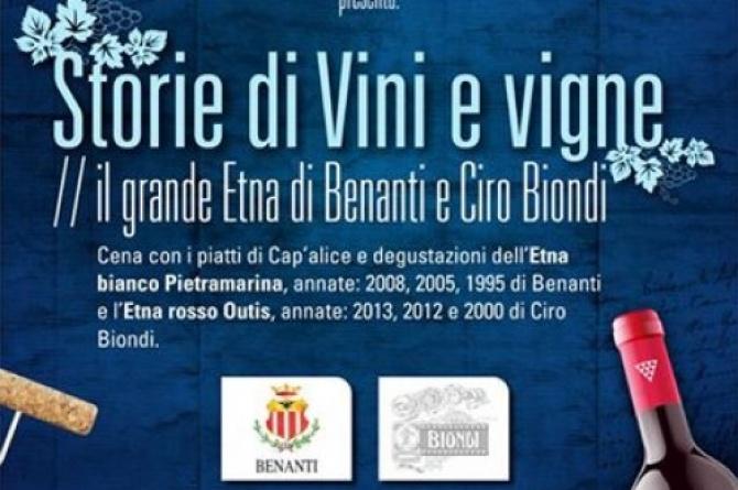 """Il 30 ottobre all'enosteria Cap'alice torna """"Storie di Vini e Vigne"""""""