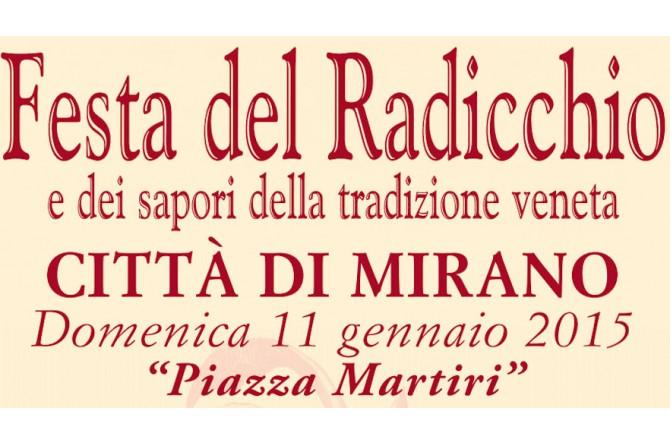 """L'11 gennaio torna la """"Festa del Radicchio Città di Mirano e dei Sapori della Tradizione Veneta"""""""