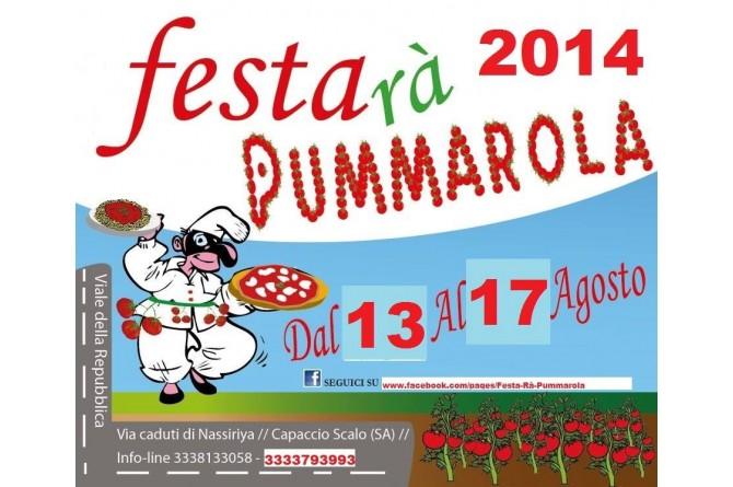 Festa ra' Pummarola: dal 13 al 17 agosto Capaccio Scalo festeggia la pummarola