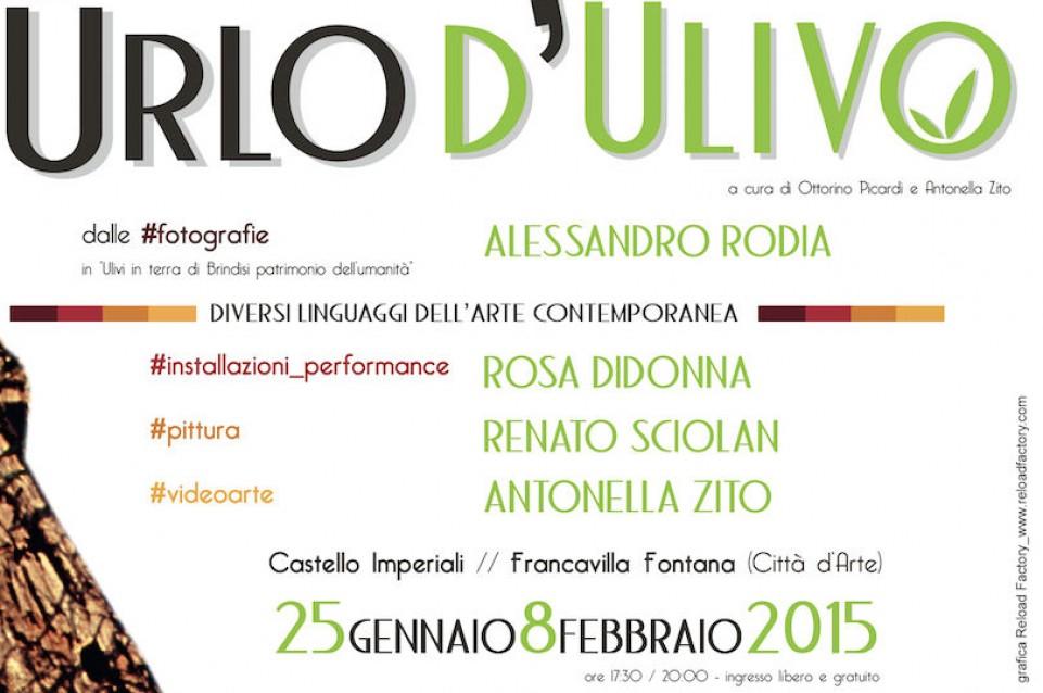 "A Francavilla Fontana la mostra ""Urlo d'ulivo"" dal 25 gennaio all'8 febbraio"