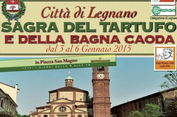 """A Legnano dal 3 al 6 gennaio la gastronomia piemontese vi aspetta alla """"Sagra del Tartufo"""""""