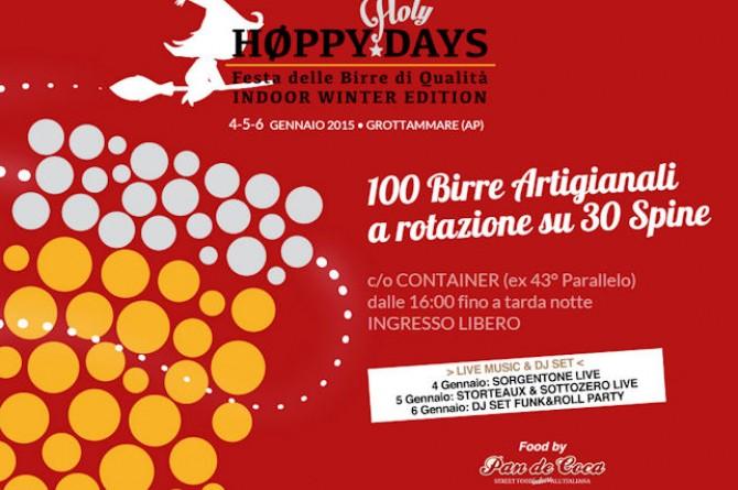 Dal 4 al 6 gennaio a Grottamare vi aspettano birre da tutto il mondo con Høppy holyDays