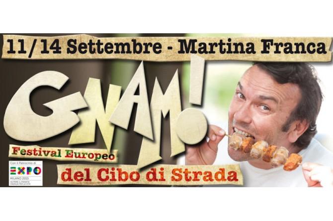 Dall'11 al 14 settembre a Martina Franca GNAM!: il Festival europeo del cibo di strada