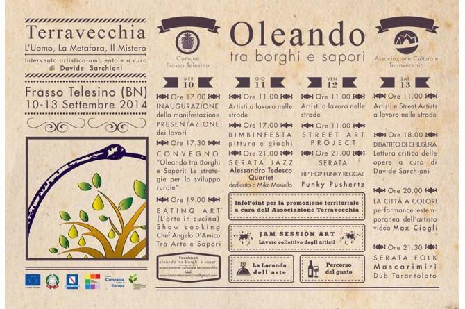 Oleando tra borghi e sapori: dal 10 al 13 settembre a Frasso Telesino