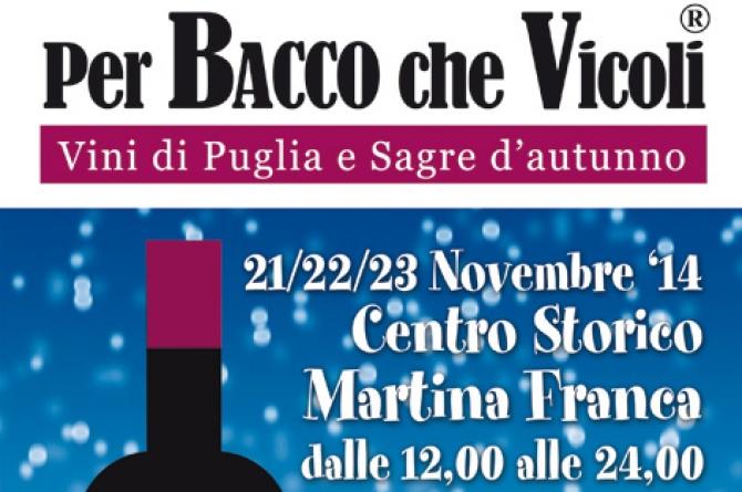 PerBacco che vicoli 2014: dal 21 al 23 novembre a Martina Franca