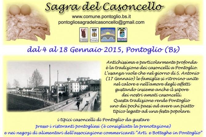 """Dal 4 al 18 gennaio a Pontoglio arriva la """"Sagra del Casoncello"""""""