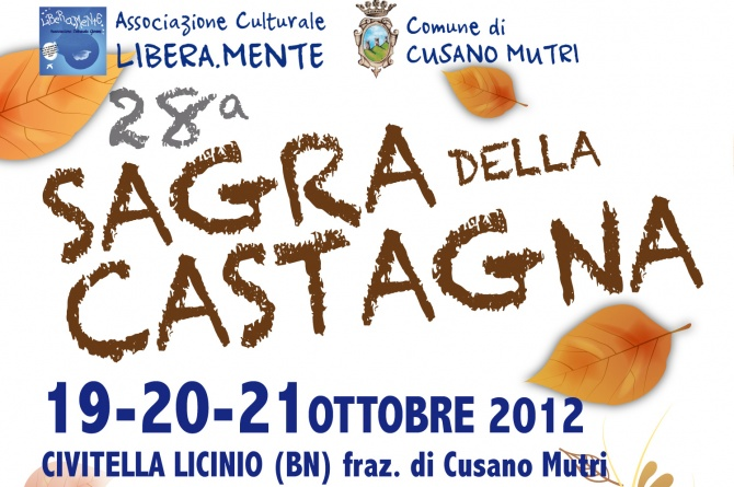 19-21 ottobre Sagra della Castagna a Civitella Licinio