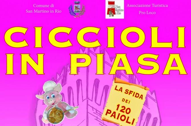 """L'1 Marzo a San Martino in Rio torna """"Ciccioli in Piasa"""": la festa dei ciccioli artigianali"""