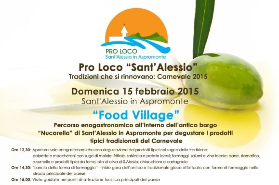 """Il 15 febbraio a Sant'Alessio in Aspromonte vi aspetta il """"Food Village"""""""