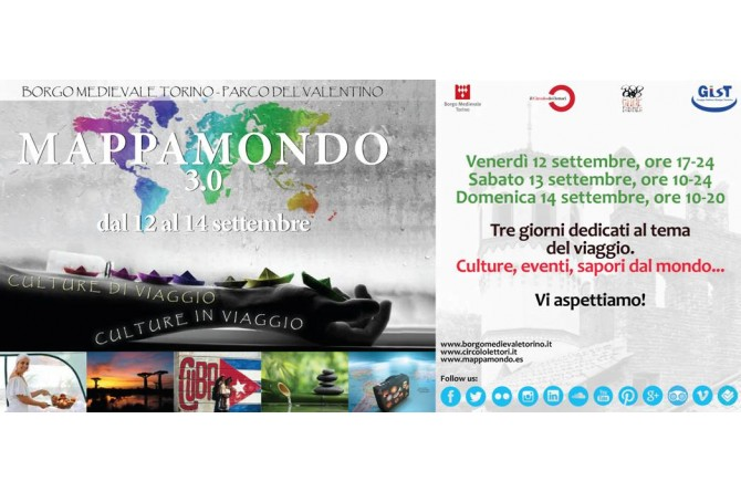 Dal 12 al 14 settembre a Torino torna il festival Mappamondo 3.0