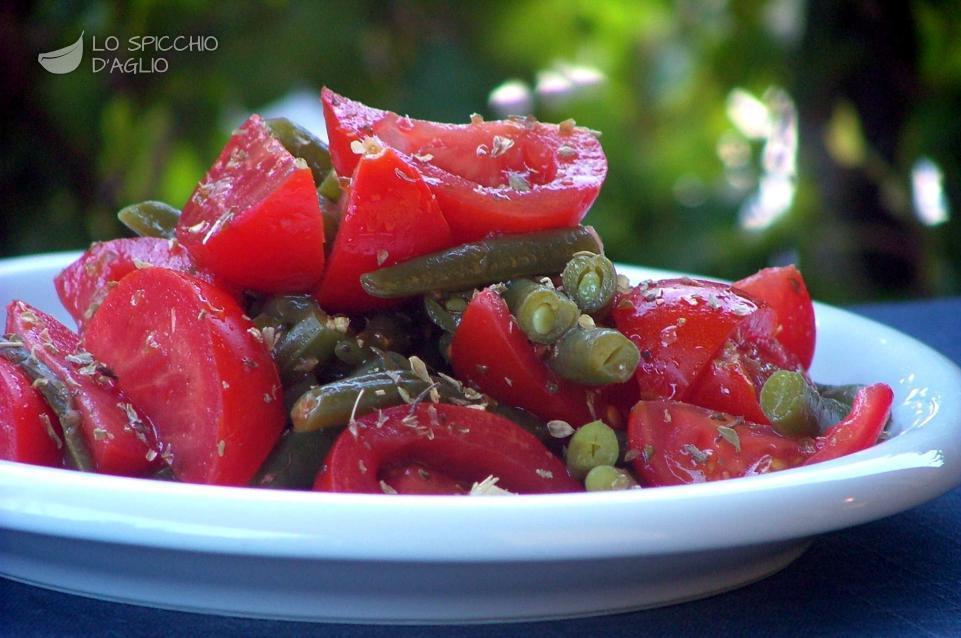 Insalata di pomodori e fagiolini
