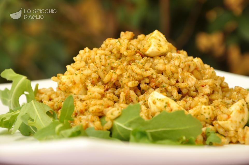 Insalata di riso ai pomodori secchi