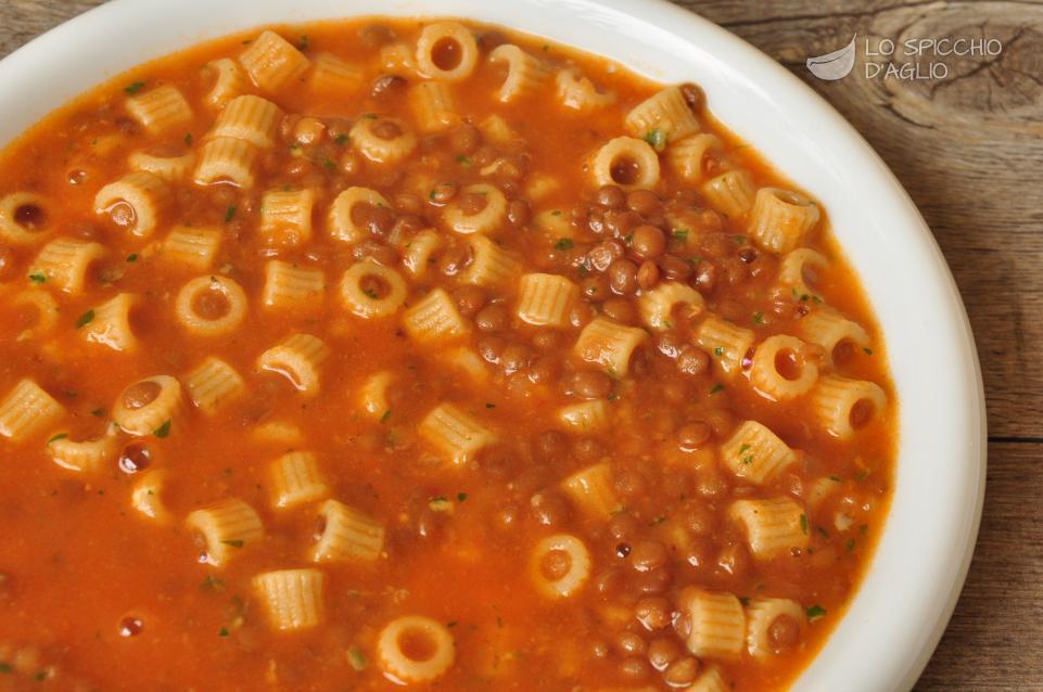 Pasta con le lenticchie