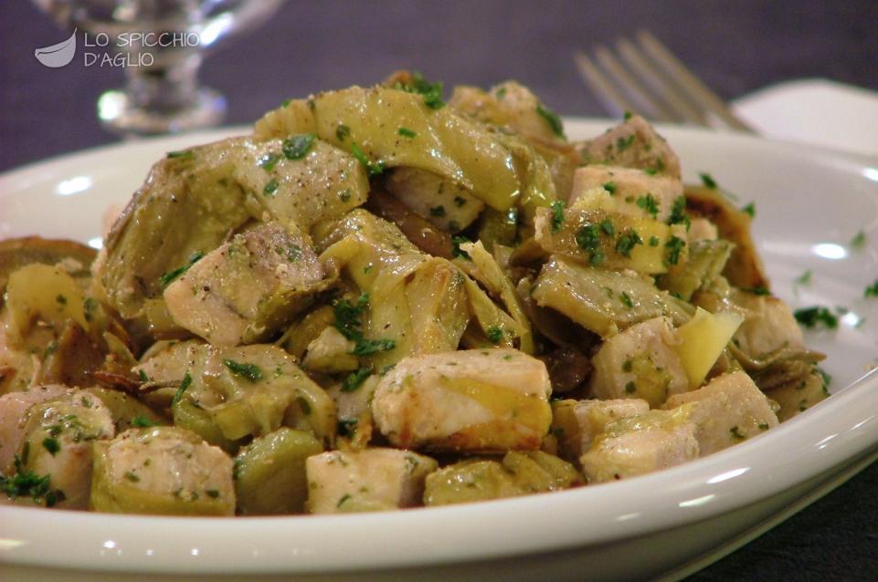 Ricetta pesce spada ai carciofi le ricette dello for Ricette con carciofi