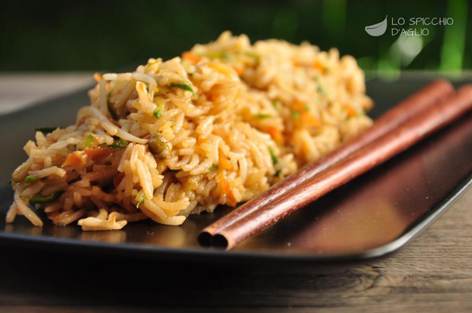 Riso saltato con verdure alla soia