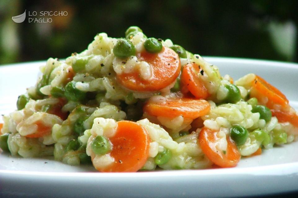 Risotto carote e piselli