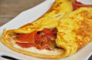Calzone di uova ai peperoni