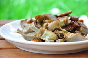 Carciofi alla salsa di soia