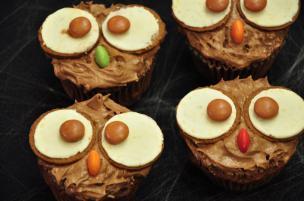 Cupcake gufetti di Halloween