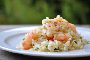 Insalata di riso gamberetti e prezzemolo