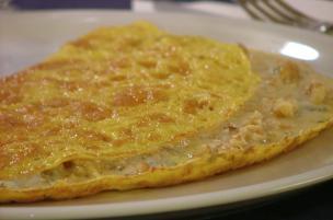 Omelette gorgonzola e noci