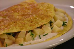Omelette patate e robiola