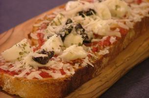 Pan di pizza bufala e Parmigiano