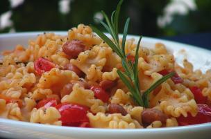Pasta fagioli e pomodorini