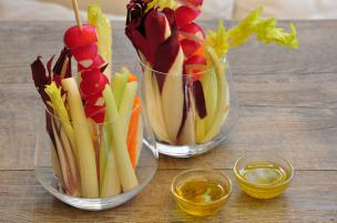 Pinzimonio di verdure d'inverno