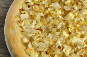 Pizza bianca belga e Brie