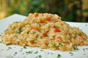 Risotto al pomodoro fresco