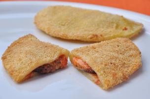 Sofficini fatti in casa pomodoro e mozzarella