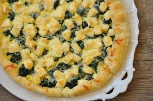 Torta salata spinaci e Brie