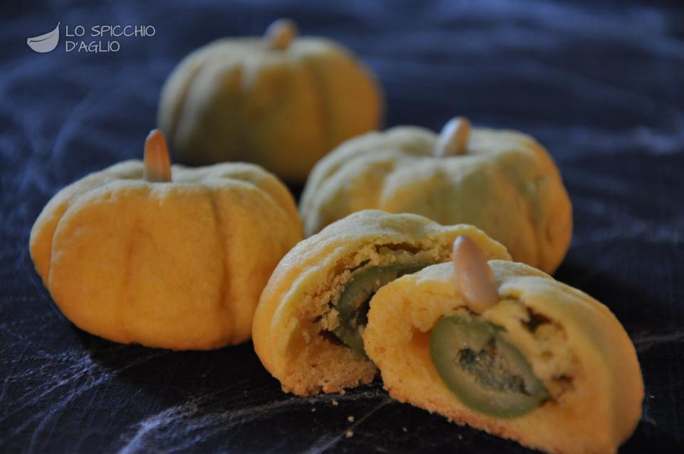 Zucche di Halloween al formaggio